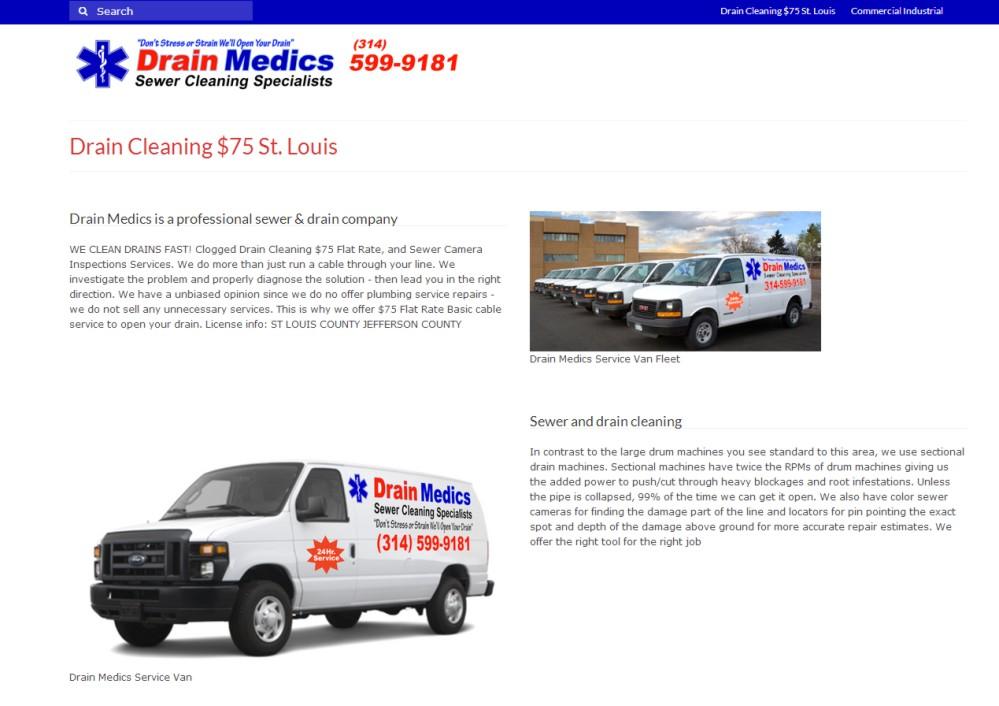 Web Design St Louis - Drain Medics