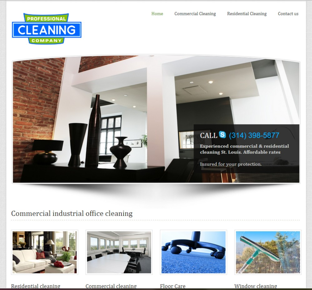 Web Design St Louis - Professional Cleaning Co.