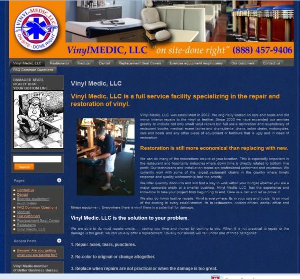 Web Design St Louis - Vinyl Medic
