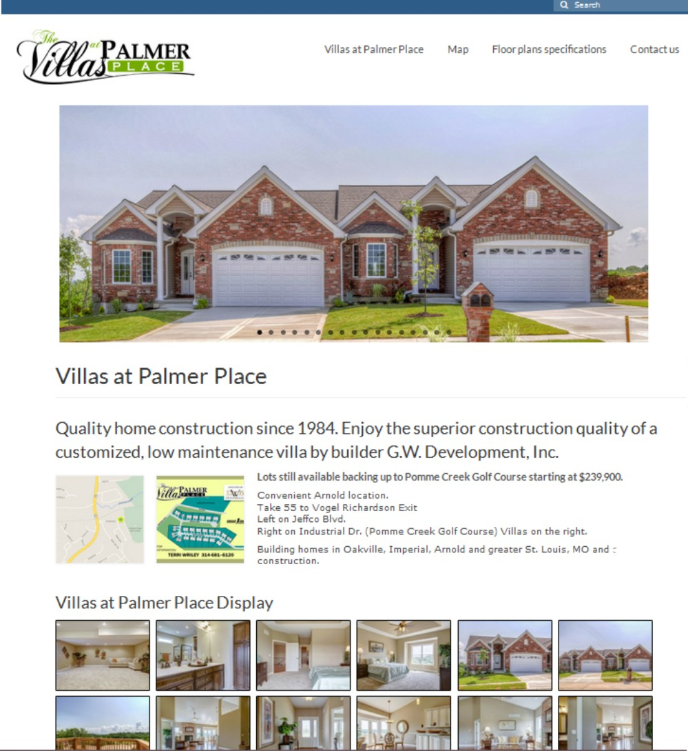 Web Design St Louis - Villas at Palmer Place