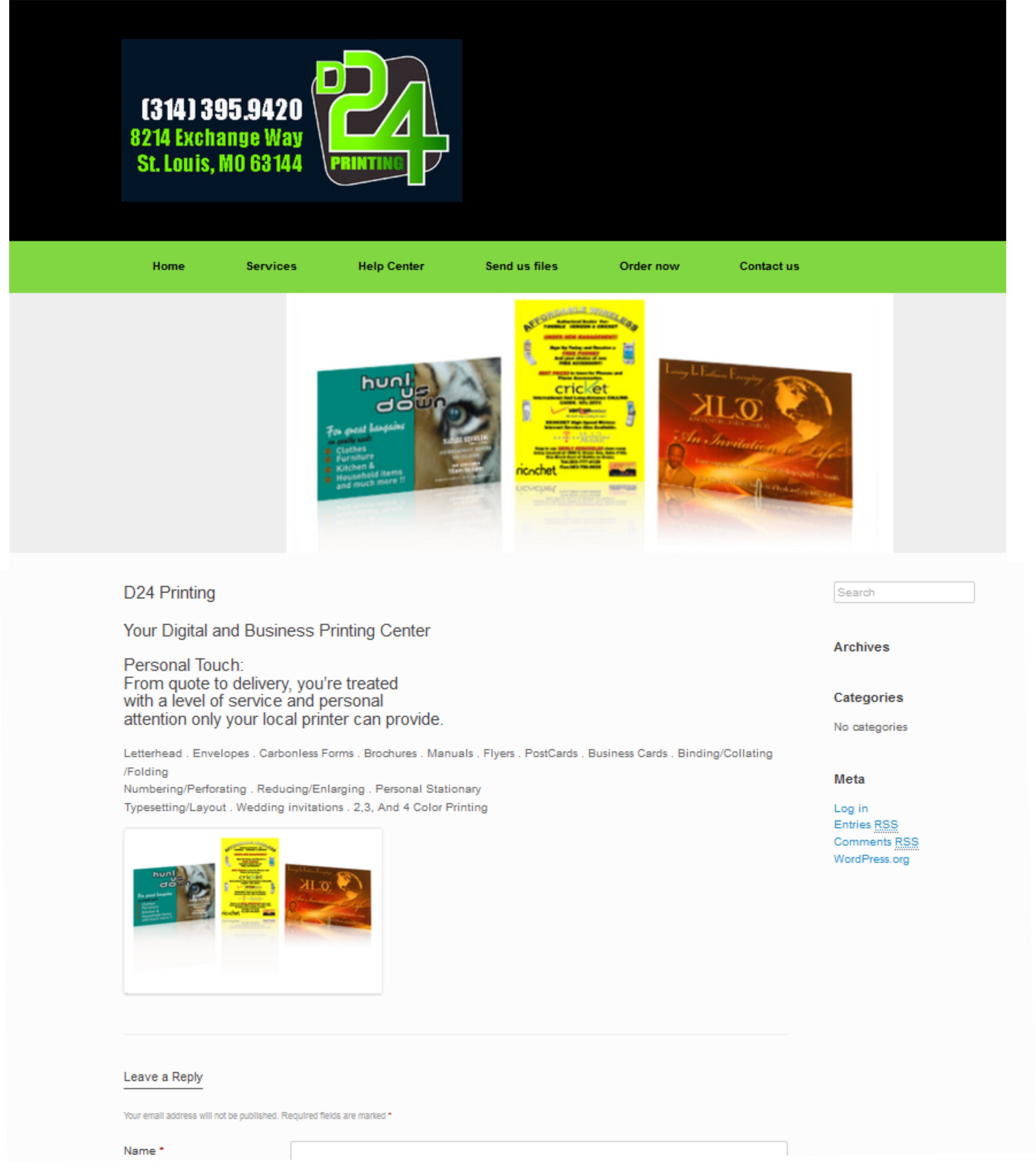 Web Design St Louis - D24 Printing
