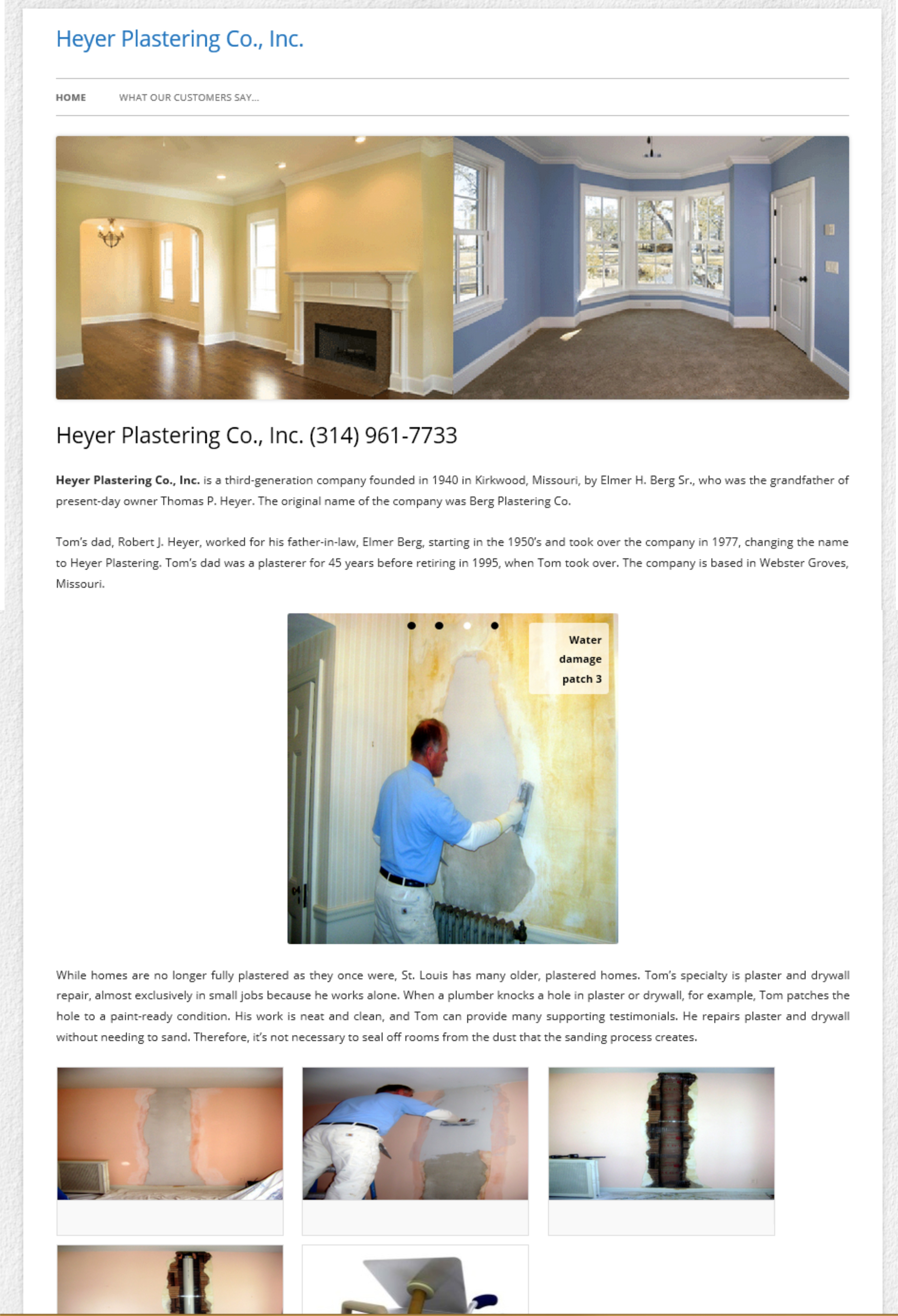 Web Design St Louis - Heyer plastering Co.